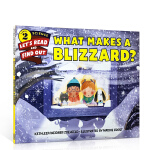 英文原版 What Makes a Blizzard? 暴雪的产生 儿童天气小百科Let's-Read-and-Fin