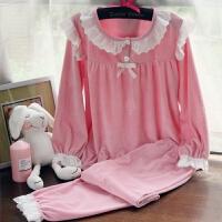 天鹅绒睡衣套装金丝绒女生珊瑚绒法兰绒长袖家居服甜美可爱秋土 均码