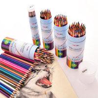 得力彩色铅笔水溶性彩铅画笔彩笔专业画画套装手绘成人72色初学者36色学生用48色绘画水溶款彩铅笔儿童幼儿园