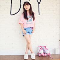 2019 童套装夏 女童T恤牛仔短裤套装两件套 中大童牛仔童装韩版