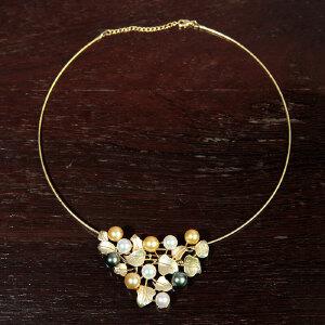 镶嵌多色珍珠项坠
