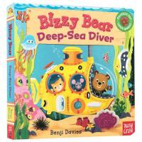 英文原版 Bizzy Bear Deepsea Diver 忙碌的小熊 纸板书 操作书 0-3岁幼儿 儿童英文启蒙