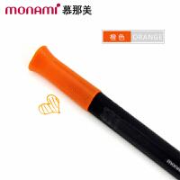韩国monami/慕娜美04034-06三角杆水性笔 橙色 水性笔中性笔漫画勾线笔绘画涂鸦大中小学生用标注重点12色可