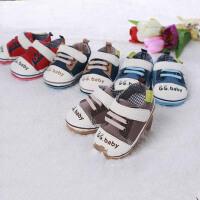 歌歌宝贝 婴儿鞋软底 防滑学步鞋 宝宝鞋 新生儿帆布鞋 初生鞋 支持货到付款