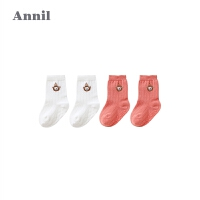 【活动价:24.5】安奈儿童装宝宝袜子中性舒适中袜两件装秋夏新款