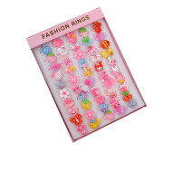 儿童玩具戒指宝宝女童小公主首饰品装饰礼品卡通玩具幼儿园奖品