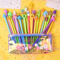 简约韩版少女心樱花辐射拉链笔袋创意文具盒套餐卡通图案中性笔