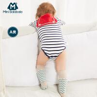 【1件5折】迷你巴拉巴拉宝宝吸汗巾小童隔汗巾婴儿新款儿童垫背巾0-3岁潮