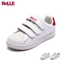 百丽童鞋新款小白鞋中童滑板鞋男女童休闲鞋