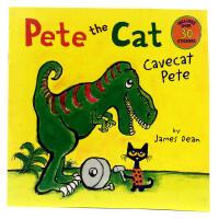 英文原版绘本 pete cat cavecat pete 皮特猫 James Dean童书