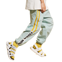【2件3折到手价:44.7元】小虎宝儿童装男童防蚊裤纯棉薄2020夏季新款儿童运动长裤子中大童