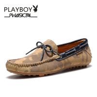 PLAYBOY/花花公子 韩版男套脚鞋驾车豆豆鞋男士休闲鞋一脚蹬懒人鞋子男DA51039