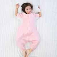 龙之涵婴儿纯棉纱布睡袋 宝宝针织提花分腿睡袋 吸汗透气护肚防踢2019新款