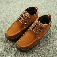 国内单 剪标男鞋加绒加厚冬款皮鞋反绒皮磨砂质感保暖棉皮鞋鞋子