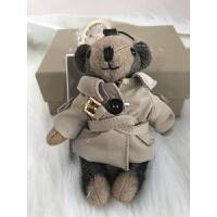 经典羊绒风衣款小熊钥匙扣包包挂件送闺蜜礼物 风衣款