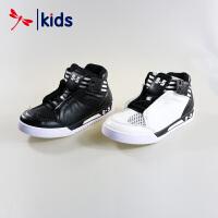 红蜻蜓童鞋男童小中童牛皮真皮透气网面运动鞋