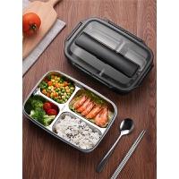 饭盒便当小学生带盖女健身食堂超长分格保温日式简约餐盒