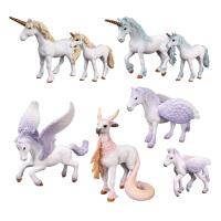 天马飞马独角兽独角马儿童认知仿真神话神兽精灵马动物模型玩具