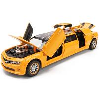 六开门儿童玩具车汽车模型带灯光仿真大黄峰跑车合金车模