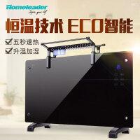 【当当自营】霍姆利德(Homeleader)GH-20F 取暖器 家用欧式快热炉 电暖器 遥控暖炉 节能壁挂对流电暖气 黑晶