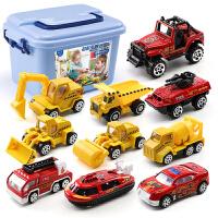 儿童玩具车男孩合金仿真挖掘机工程全套消fang车宝宝小汽车模型套装