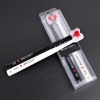 2支日式创意爱心情侣牙刷软毛成人家用可爱细软成人款牙刷套装