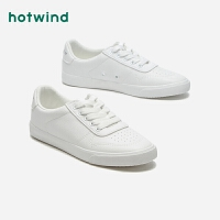 【4.4-4.6 1件3折】热风小清新女士时尚休闲鞋系带圆头板鞋H14W9116