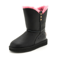 Safiya/索菲娅冬羊皮毛铆钉低跟雪地靴短靴女SF6411A025