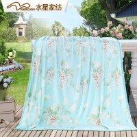 水星家纺毛毯加厚冬季床法兰绒毯保暖盖毯沙发毯