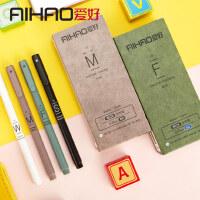 爱好韩国中性笔0.5小清新可爱签字笔学生用品黑蓝色0.35mm笔芯签字水性笔红笔办公文具