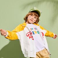 【1件4折:134】巴拉巴拉旗下巴帝巴帝男童棒球服外套2020春装新款短款儿童上衣洋气男