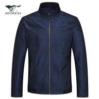 七匹狼夹克 18春季新品男士青年时尚商务休闲立领夹克外套