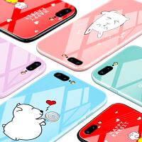 苹果7plus手机壳iphone6s玻璃X女款8新款潮6卡通plus个性防摔可爱