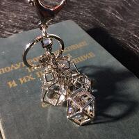 镂空镶钻钥匙扣汽车钥匙链腰挂水晶镶钻包包挂件时尚节日礼物