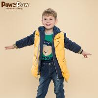 【3件2折 到手价:300】Pawinpaw宝英宝卡通小熊童装冬季款男童羽绒服