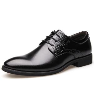 2017夏秋四季新款男士尖头系带经典商务正装皮鞋单鞋男鞋婚鞋9907BBS