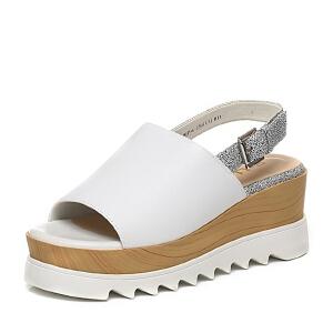 Belle/百丽夏季专柜同款简约舒适女鞋BJP36BL6