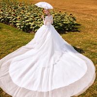 婚纱礼服2018新款新娘结婚冬季长袖韩式齐地公主梦幻2018长拖尾女