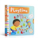 顺丰发货 英文原版绘本Busy Playtime 忙碌的玩耍时间 儿童亲子互动 躲猫猫游戏 玩具纸板机关操作书绘本促进