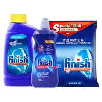 亮碟(finish)洗碗粉原装洗碗机洗涤剂套装适用海尔美的西门子等(洗碗粉+专用盐+漂洗剂) (三件套装)