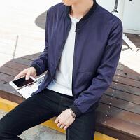 慈姑春秋季新款青年立领夹克衫外套男士土韩版潮学生修身外穿褂子上衣