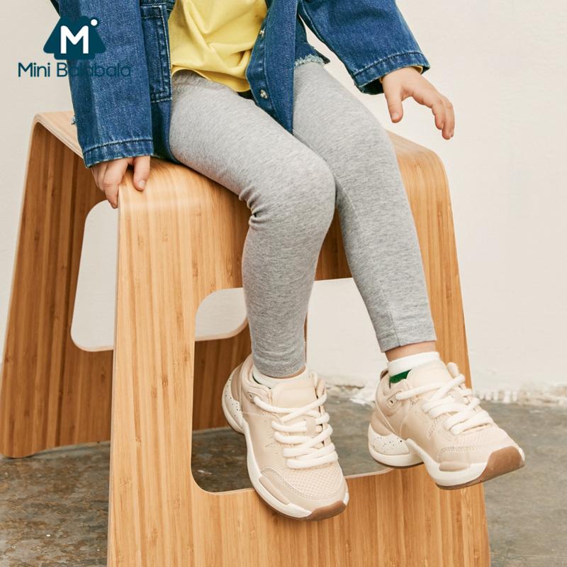 【920限时2件3折】迷你巴拉巴拉女童外穿打底裤2019春新款印花卡通可爱小童弹力裤子