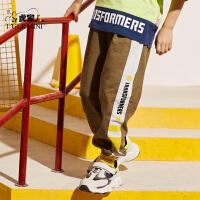【2件3折到手价:44.7元】男童装防蚊裤薄款2020夏季新款儿童纯棉长裤潮中大童洋气运动裤子