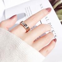 时间戒指女食指戒冷淡风日韩网红潮人个性钛钢指环学生chic极简潮