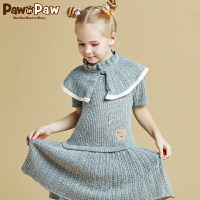 【秒杀价:239元】Pawinpaw宝英宝卡通小熊童装女童短袖针织毛衣连衣裙