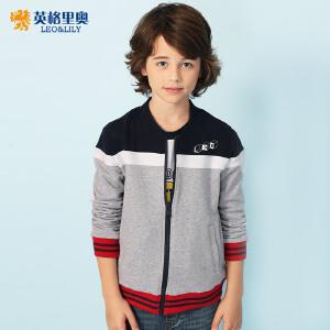 童装男童春秋款休闲拉链短款外套中大男童大码棒球服9-13岁