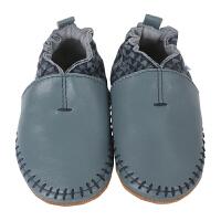 保税区发货/美国直邮 Robeez Classic Moccasin 男童高档软底学步鞋软帮鹿皮鞋 蓝色 海外购