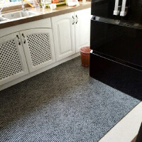 欧式厨房防水防滑垫 PVC塑料地板 镂空西餐泡沫垫 客厅按摩脚垫子 太空黑