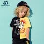迷你巴拉巴拉男童幼童T恤新款夏季时尚纯棉儿童圆领短袖体恤