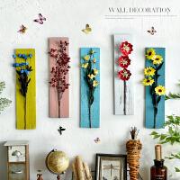 家居创意壁挂装饰品挂件木板干花组合墙面挂饰